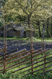 """Roundpole fence in Estonian Open Air Museum"" av Maigi - Eget arbete. Licensierad under CC BY-SA 3.0 via Wikimedia Commons"
